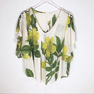 Maeve | Anthropologie flower print blouse size 8